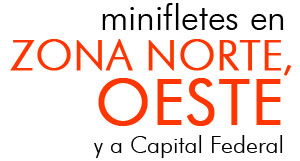 Minifletes en Zona Norte, Oeste y a Capital Federal